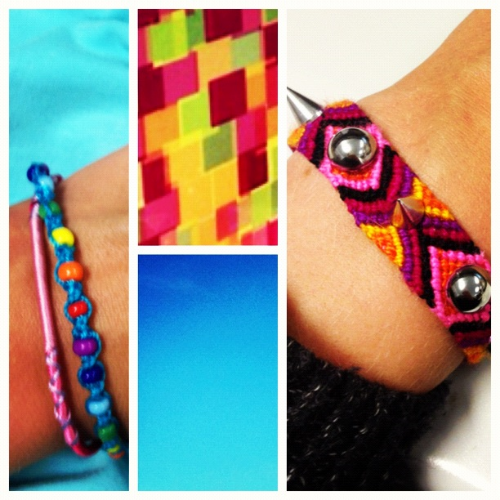 Friendship bracelet spikes fashion